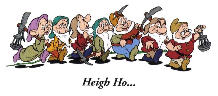 Heigh Ho,Heigh Ho,It's Off To Work I Go ….