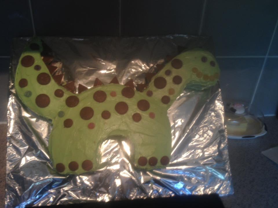 No Bake T-Rex Birthday Cake
