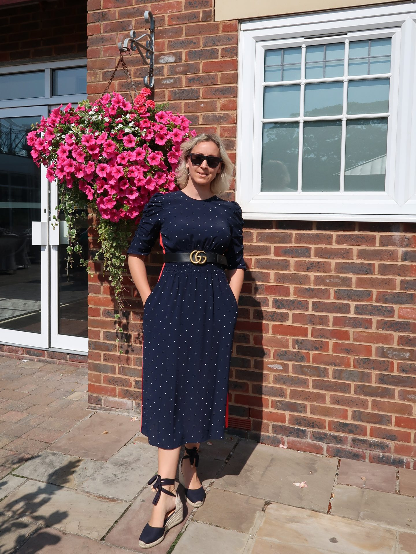 Becci wearing Castañer espadrilles styled with a Marks & Spencer summer dress